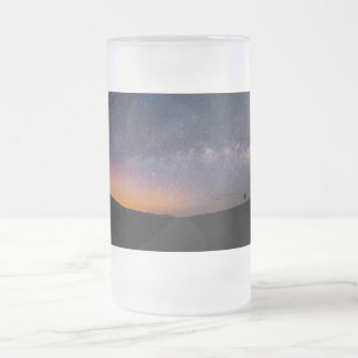 Death Valley milky way Sunset Frosted Glass Beer Mug