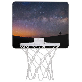 Death Valley milky way Sunset Mini Basketball Hoop