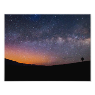 Death Valley milky way Sunset Photo Print