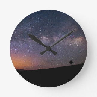 Death Valley milky way Sunset Round Clock