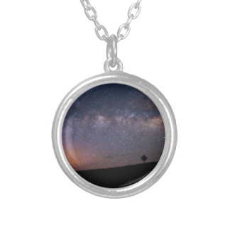 Death Valley milky way Sunset Silver Plated Necklace
