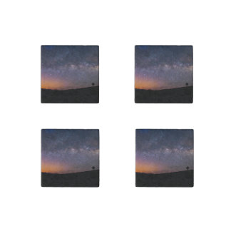 Death Valley milky way Sunset Stone Magnet