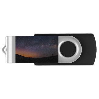Death Valley milky way Sunset USB Flash Drive