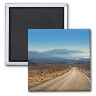 Death Valley road 3 California USA Square Magnet
