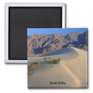 Death Valley Sand Dunes Square Magnet