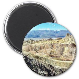 Death Valley Zabriskie Point Sand Desert 3 6 Cm Round Magnet