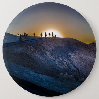 Death Valley zabriskie point Sunset 6 Cm Round Badge