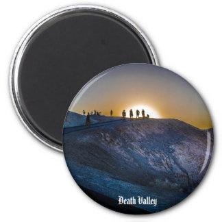 Death Valley zabriskie point Sunset 6 Cm Round Magnet