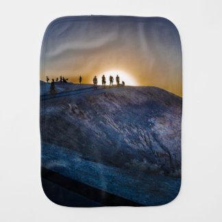 Death Valley zabriskie point Sunset Burp Cloth