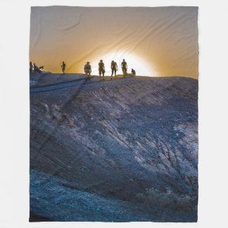 Death Valley zabriskie point Sunset Fleece Blanket