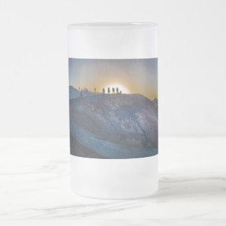 Death Valley zabriskie point Sunset Frosted Glass Beer Mug