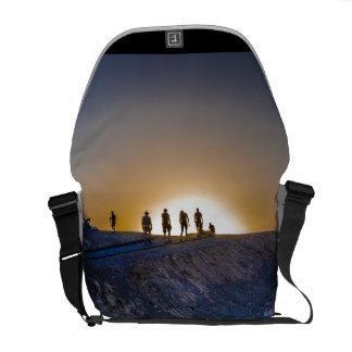 Death Valley zabriskie point Sunset Messenger Bag