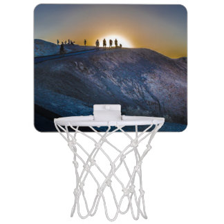 Death Valley zabriskie point Sunset Mini Basketball Hoop