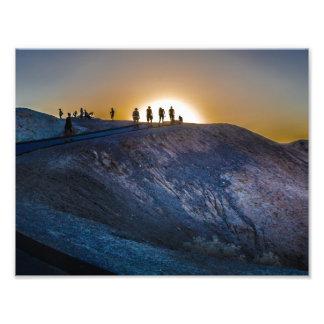 Death Valley zabriskie point Sunset Photo Print