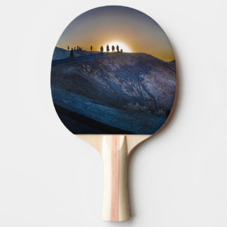 Death Valley zabriskie point Sunset Ping Pong Paddle