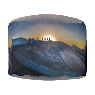Death Valley zabriskie point Sunset Pouf