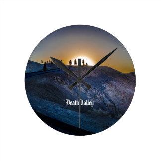 Death Valley zabriskie point Sunset Round Clock
