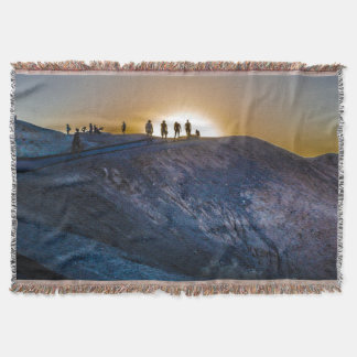 Death Valley zabriskie point Sunset Throw Blanket