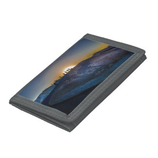 Death Valley zabriskie point Sunset Tri-fold Wallets