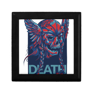 death with flying skull design gift box