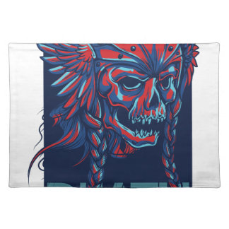 death with flying skull design placemat