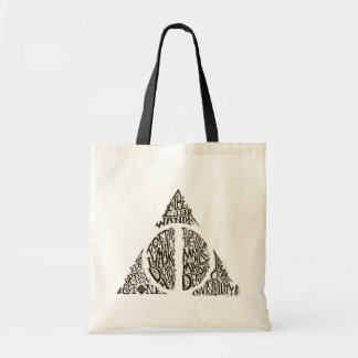 DEATHLY HALLOWS™ Typography Graphic Budget Tote Bag