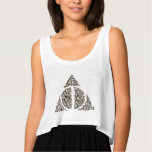 DEATHLY HALLOWS™ Typography Graphic Flowy Crop Tank Top