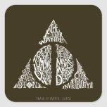 DEATHLY HALLOWS™ Typography Graphic Square Sticker