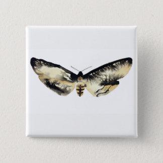 Death's Head Moth 15 Cm Square Badge