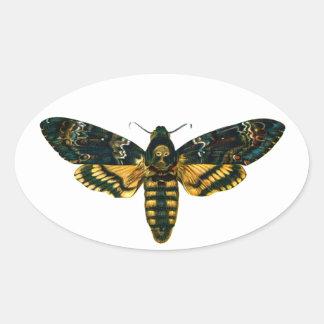 Death's Head Moth Oval Sticker