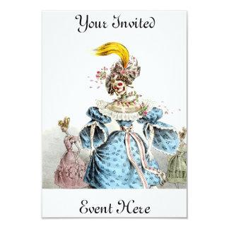 "Death's Pnemonia Dress Invitation 3.5"" X 5"" Invitation Card"