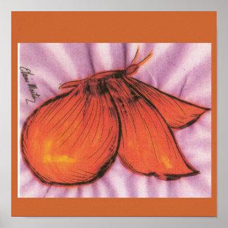 Debbies Orange Butterfly Poster