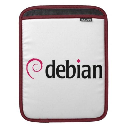 debian Linux Logo Rickshaw iPad or Tablet Sleeve iPad Sleeve