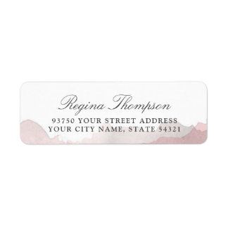 Debonair Blush Pink Return Address Label