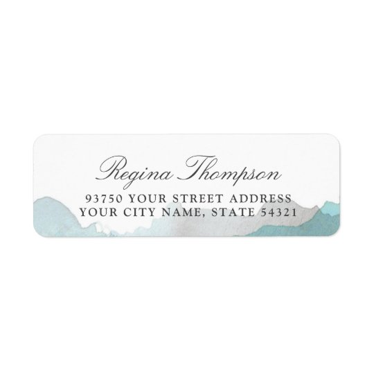 Debonair Turquoise Return Address Label