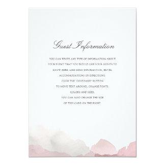 Debonair Wedding Insert Card
