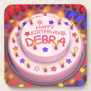 Debras Birthday Cake Coaster