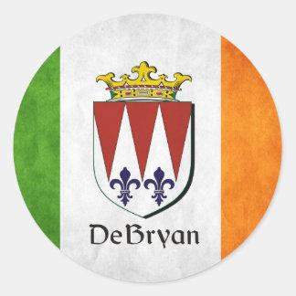 DeBryan Irish Flag Classic Round Sticker