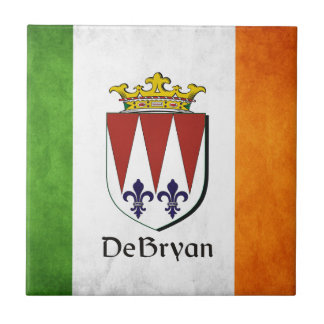 DeBryan Irish Flag Small Square Tile