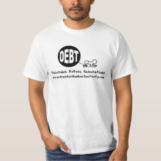 Debt Ball and Chain (with Obama Quote) Tshirts