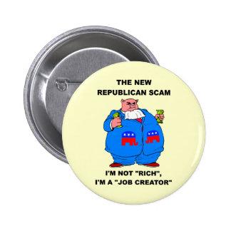 debt ceiling 6 cm round badge