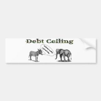 Debt Ceiling Camouflage Bumper Stick Bumper Sticker