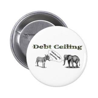 Debt Ceiling Camouflage Button