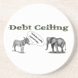 Debt Ceiling Camouflage Coaster