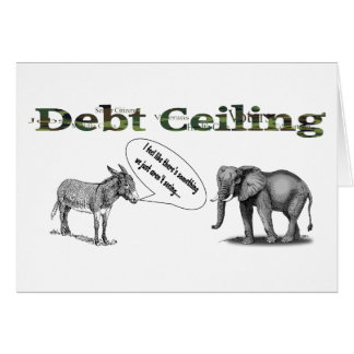 Debt Ceiling Camouflage Greeting Card