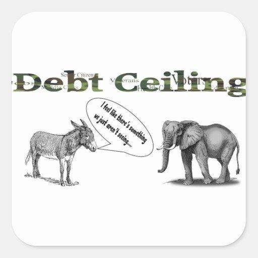Debt Ceiling Camouflage Sticker