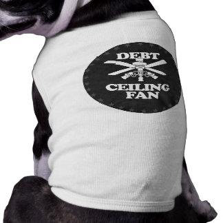 DEBT CEILING FAN PET T-SHIRT