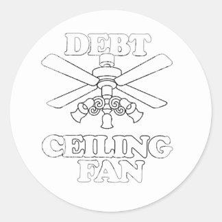 DEBT CEILING FAN Faded.png Round Sticker