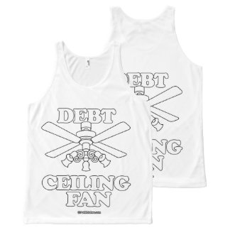 DEBT CEILING FAN All-Over PRINT TANK TOP