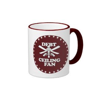 DEBT CEILING FAN COFFEE MUG